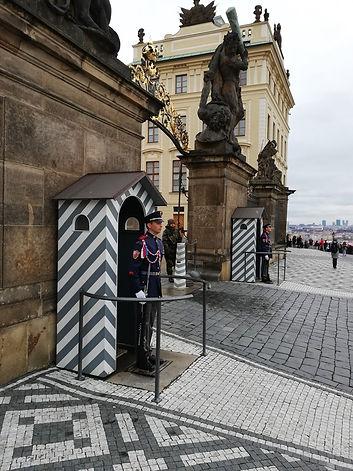 Почетный караул королевского дворца в Праге