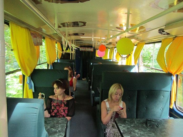 Пассажиры Трамвая-кафе