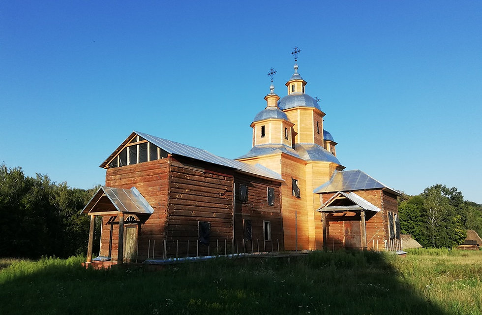 Пирогово, строят церковь