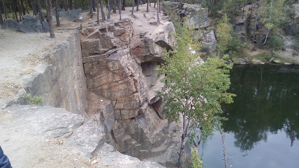 Огромная высота каньона