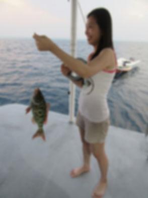 Первая рыба в яхтенном соревновании