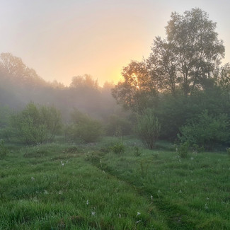 Восход солнца возле базы Экополис