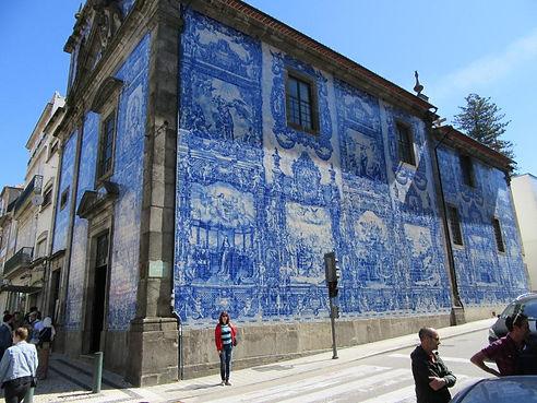 Картины на стенах города Порту из Азулежу