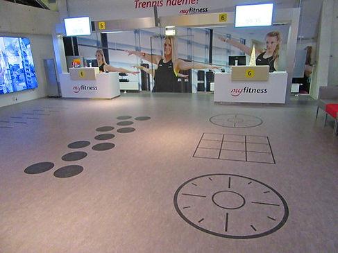 Комната для занятия фитнесом в аэропорту Таллинна
