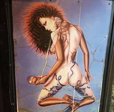 Картина на улице баров в Айя-Напе