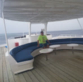 Лаунж-зона на яхте
