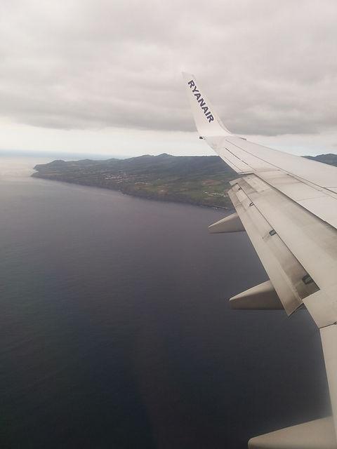 Подлетаем к острову Сан Мигель