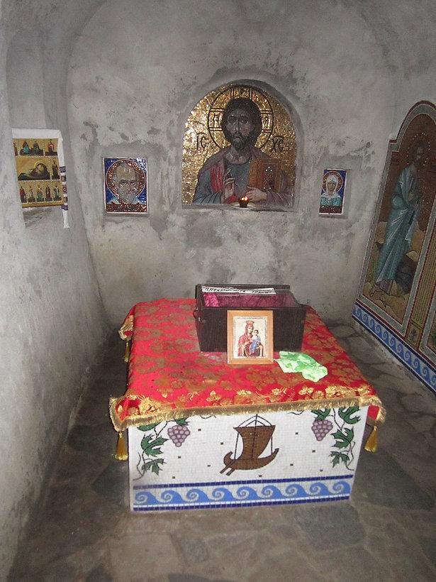 Келья, где хранились мощи святого Иоанна