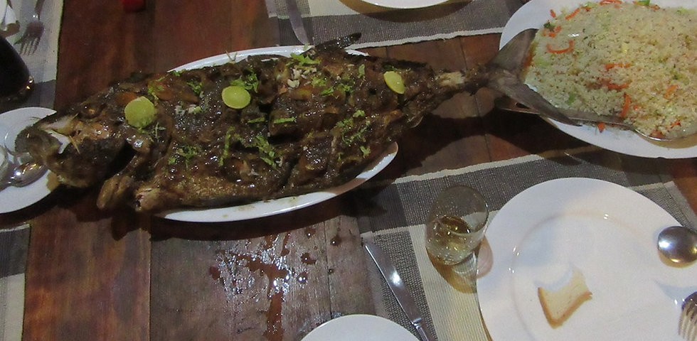 Рыба на ужин в отеле