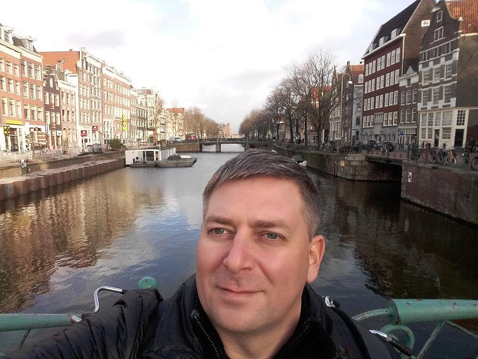 Селфи перед отъездом из Амстердама