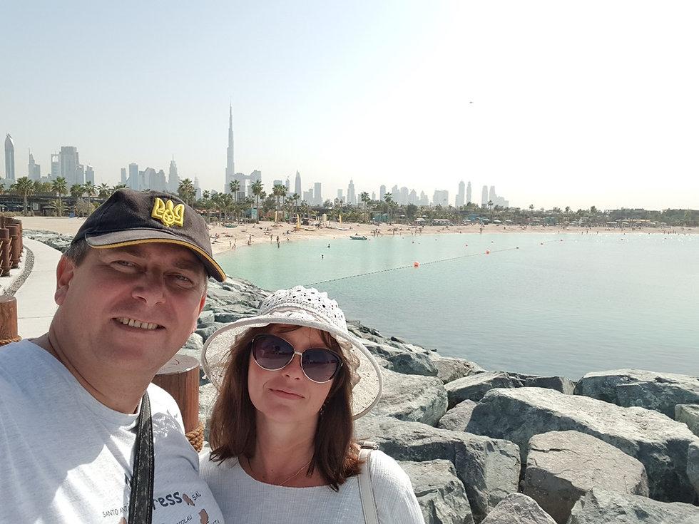 Вид на Дубаи