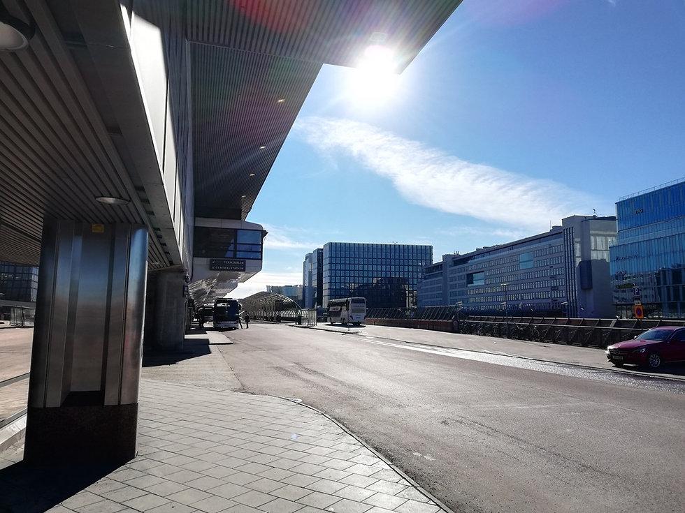 Возле автовокзала Стокгольма