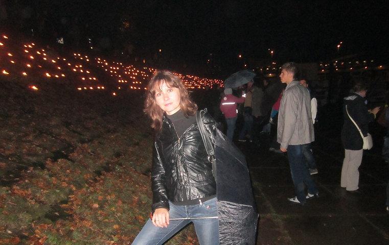 Фото возле огненных узоров