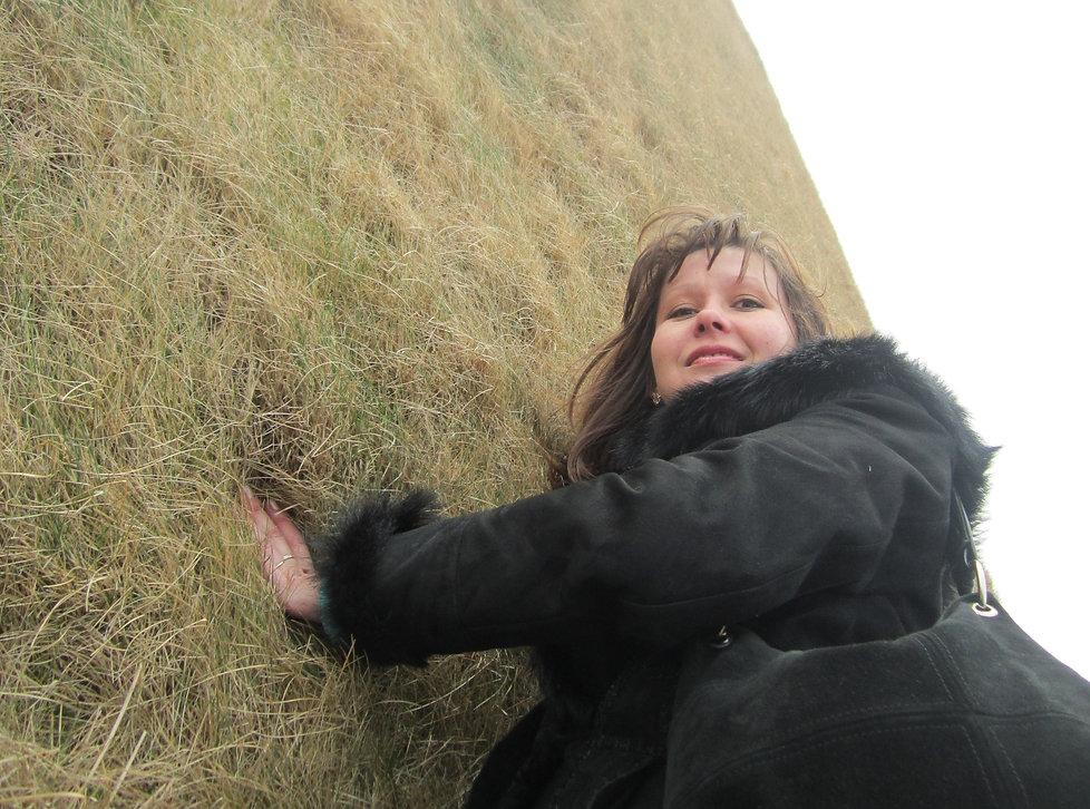 Трава растет горизонтально на Копце Костюшко