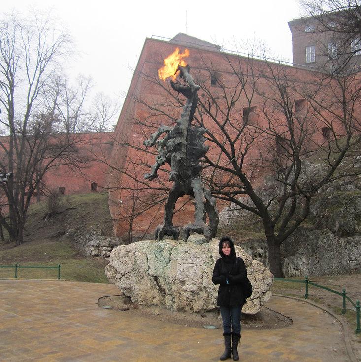 Огненный драков, хивущий под Вавелем