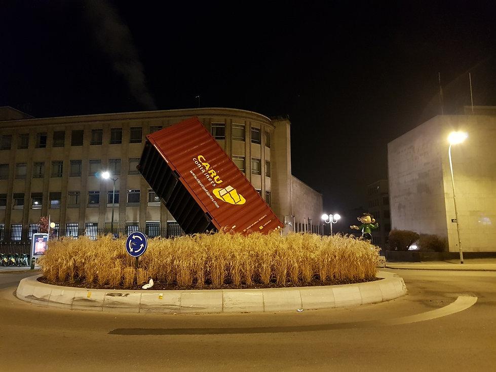"""Памятный знак """"60 лет контейнеру"""""""