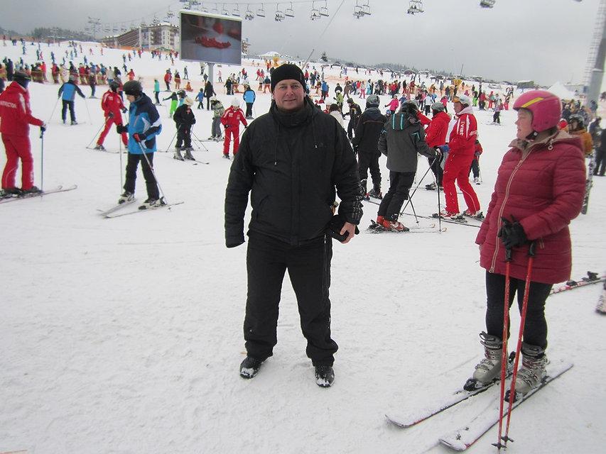 Количество лыжников очень велико