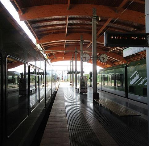 Платформа от которой отправляется поезд