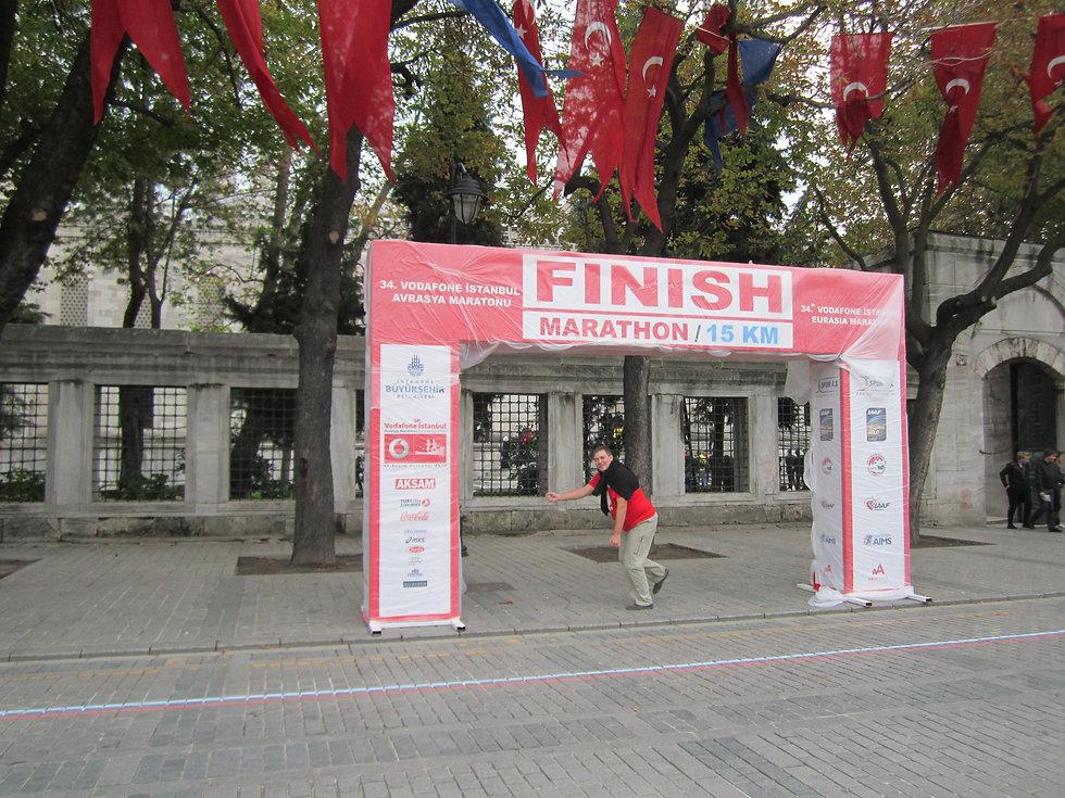 Финиш стамбульского марафона