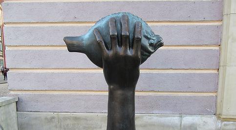 Гданьск, памятник рыба