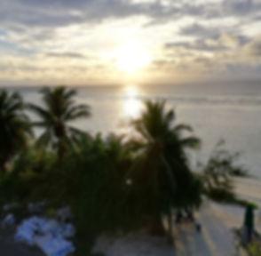 Солнце над океаном в Хулхумале