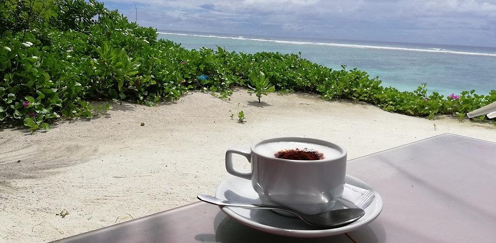 Кофе, пляж, Хулхумале, Мальдивы