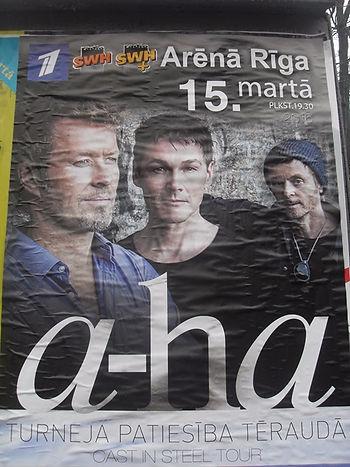 Афиша концерта A-ha