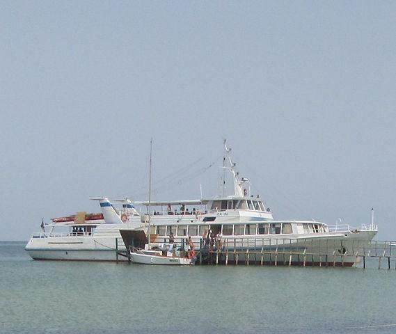Корабль, который нас забрал с острова
