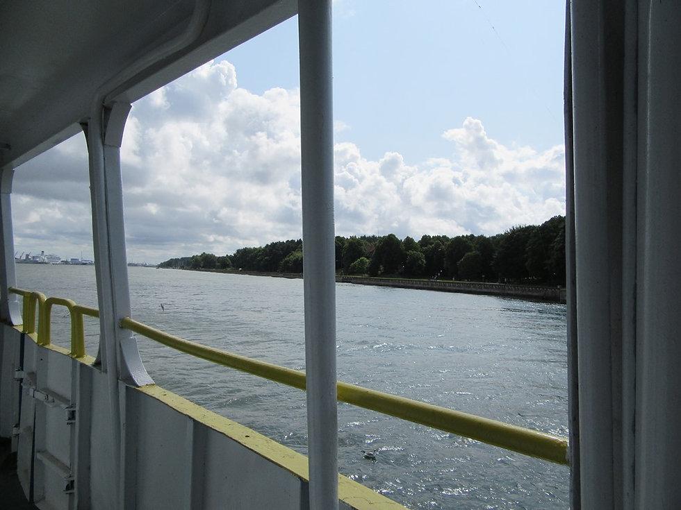 Вид с парома на остров Юодкранте