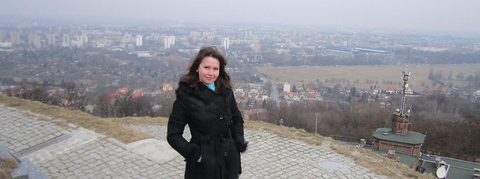 Вид на Краков с вершины Копца Костюшко