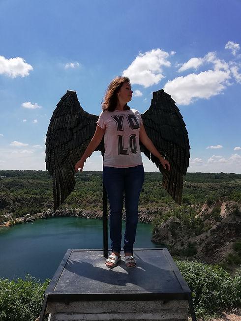 Радоновое озеро, крылья ангела