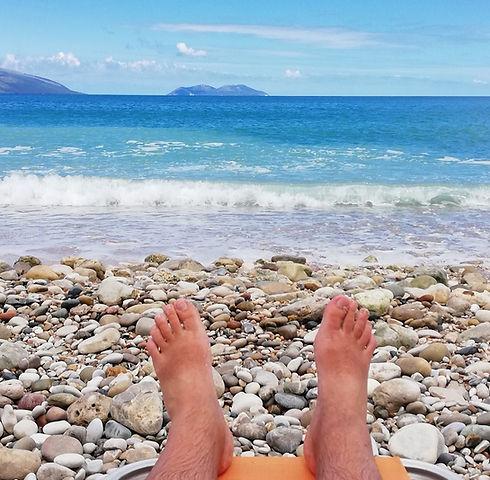 Албания, пляж, ноги