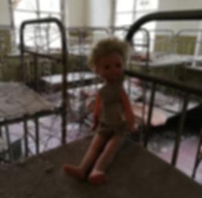 Спальня в бывшем детском саду, Чернобыль