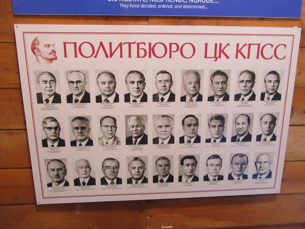 Портреты Политбюро ЦК КПСС