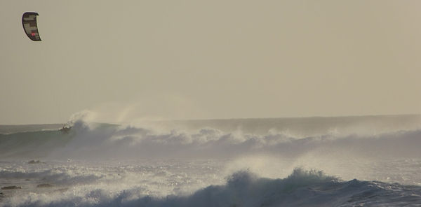Волны и кайтеры на острове Сал