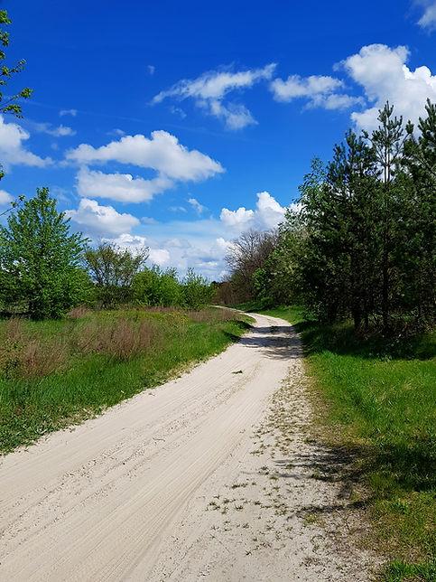 Песчаная дорога возле базы Экополис