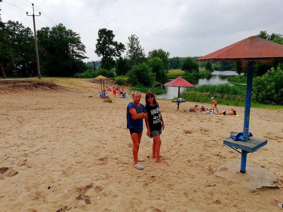 Пляж на реке Рось