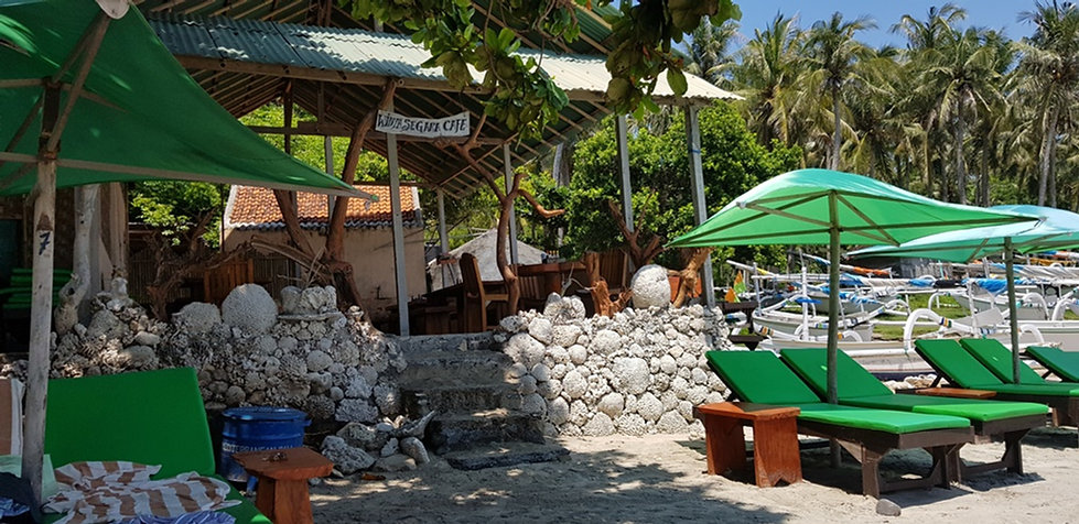 Кафе на белом пляже, Бали