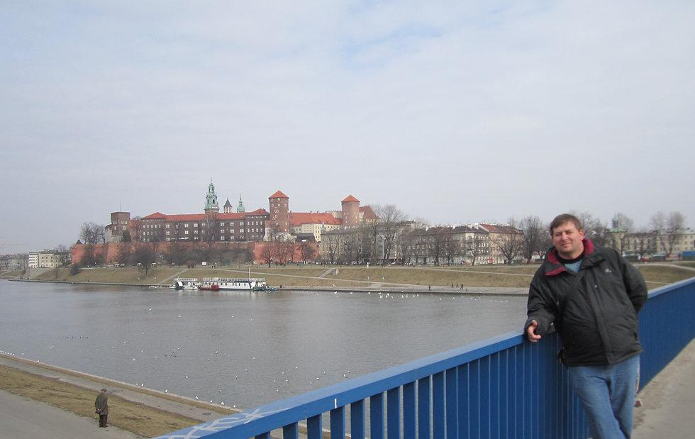 Вид на Вавель с моста через Вислу