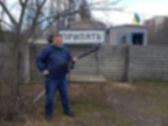 Пулемет на блокпосту при въезде в Припять