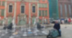 Гданьск, фонтан, львы