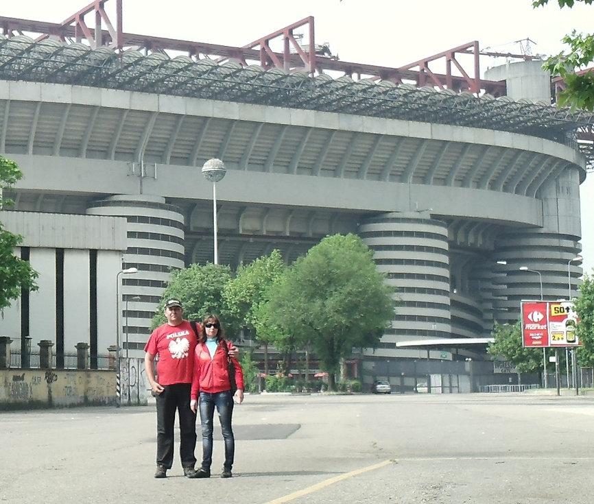 Возле стадиона Сан-Сиро в Милане