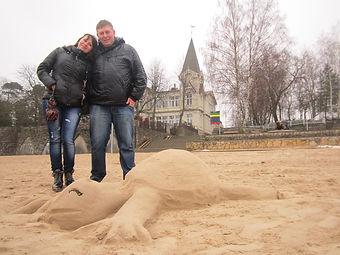 Черепаха из песка
