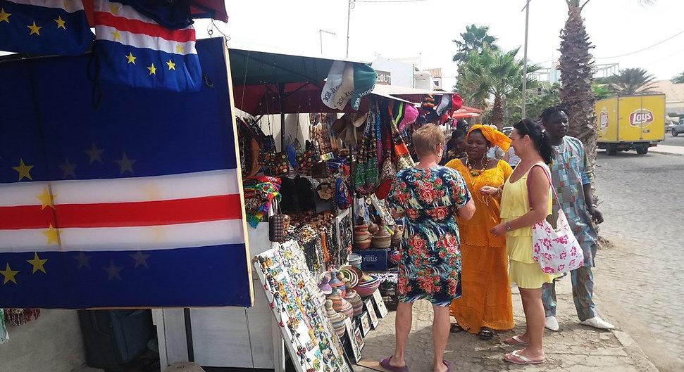 Рынок сувениров в Кабо-Верде