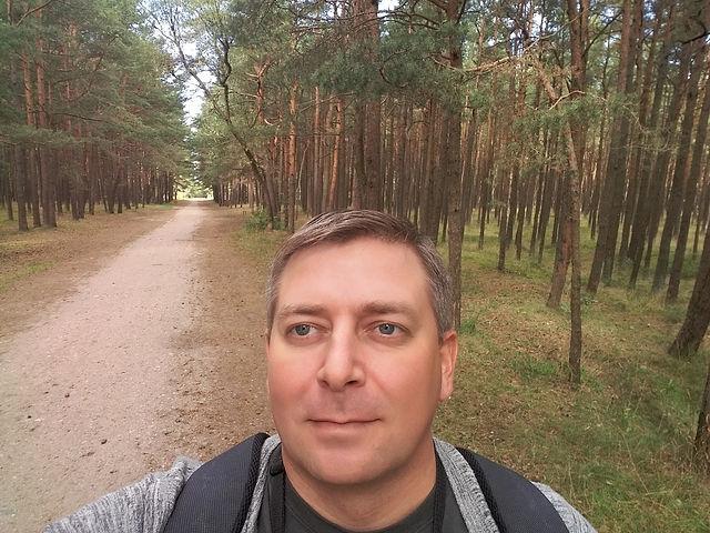 Паланга, Литва. Велодорожки среди сосен.