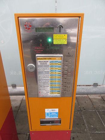 Автомат по продаже билетов, Братислава