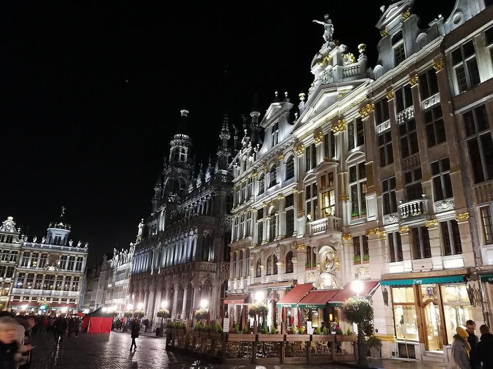 Брюссель, Гран Плас вечером