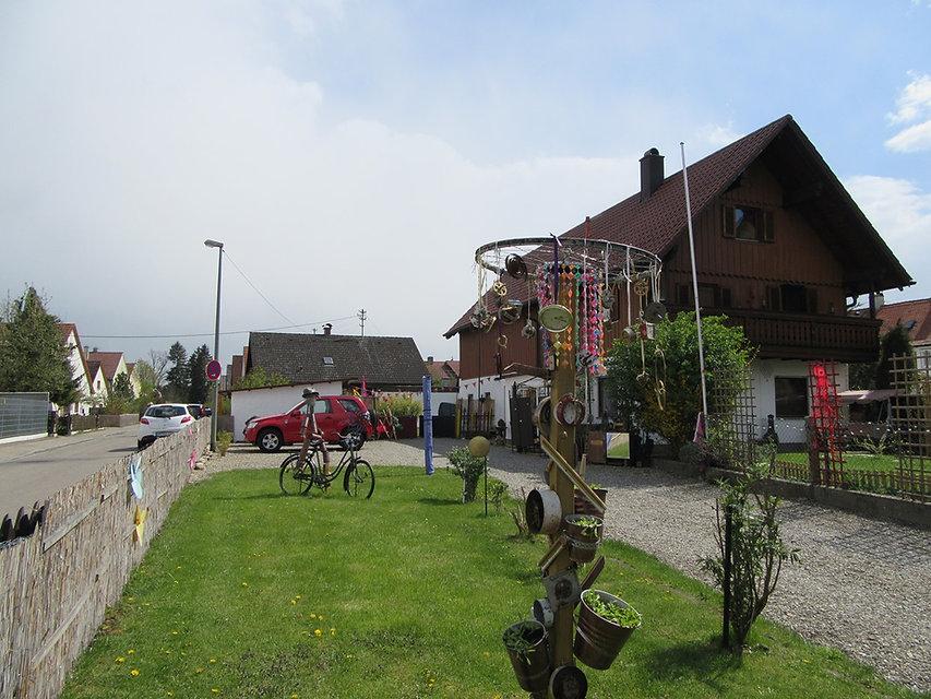 Креативный немецкий дворик