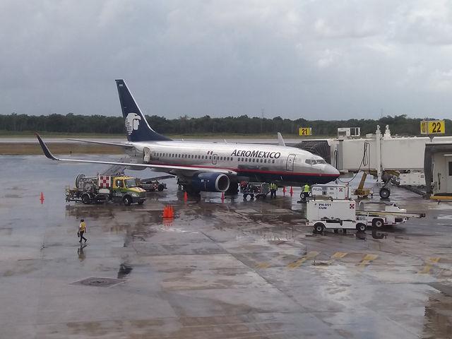 Самолет, который привез нас в Канкун