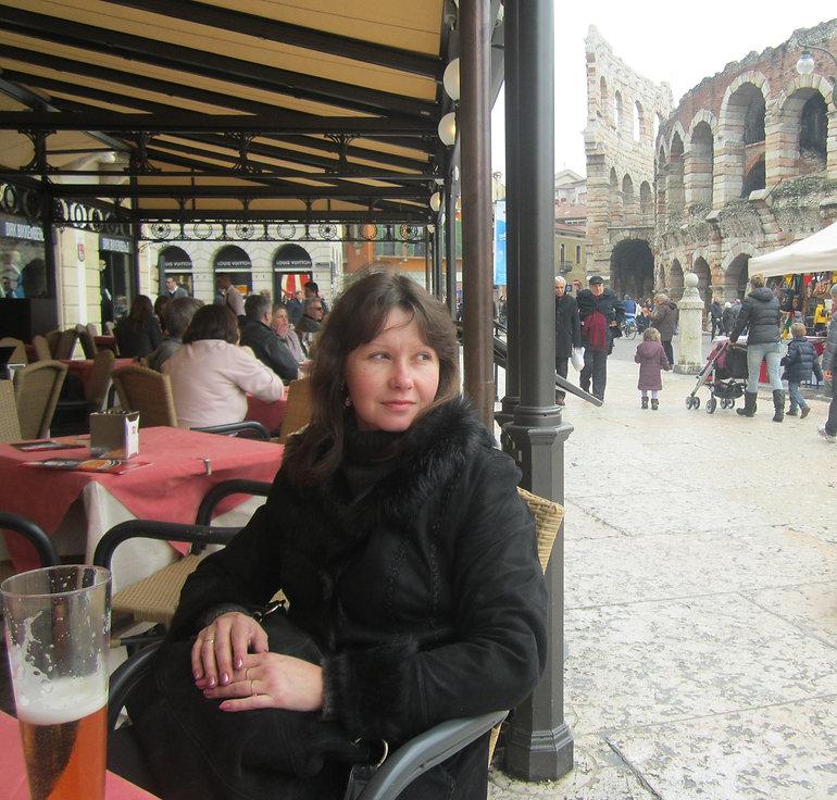 Пицца возле веронского Колизея